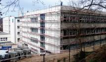 Nemocnice Český Krumlov - přístavba 2 pavilonů, 3000m3, OHL-ŽS, 2017
